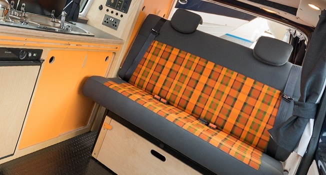 Cambee Rock and Roll Bed stowed away
