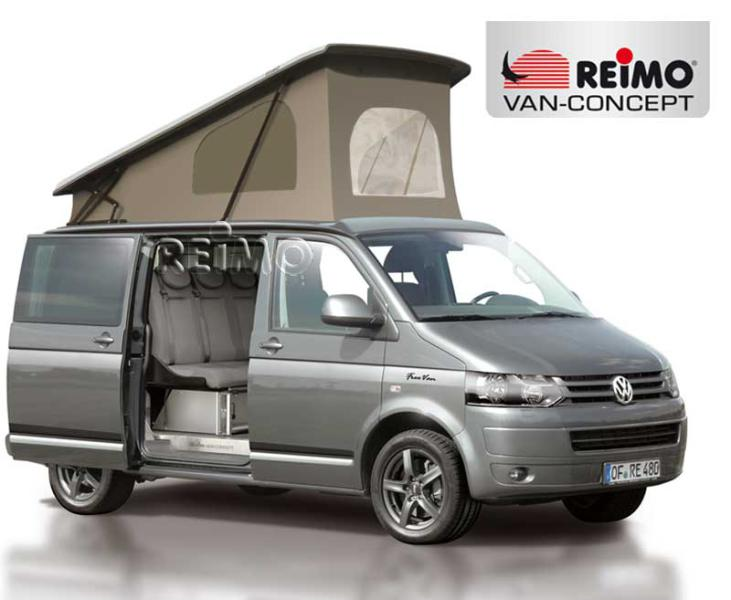 Vw campervan conversion with Reimo elevated roof