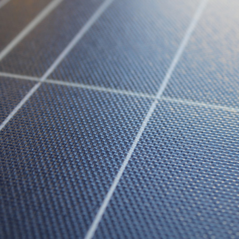 Solar panel cell close up