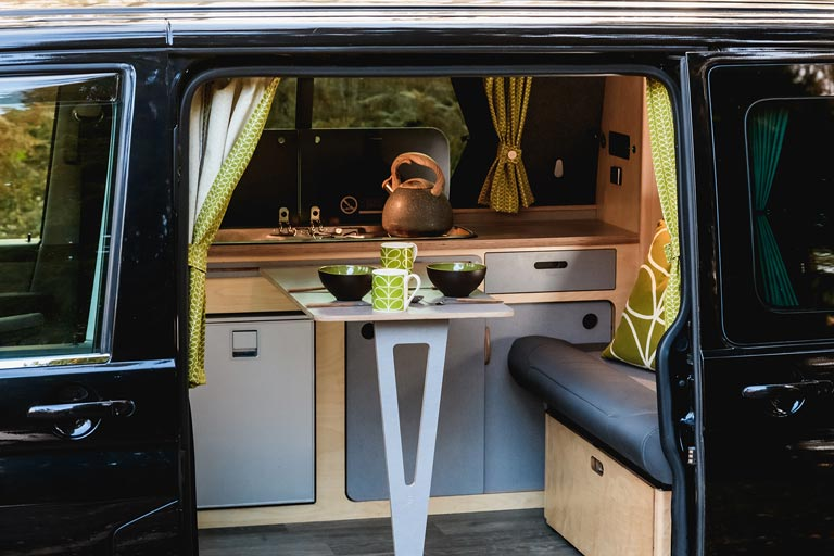 Full campervan conversion kit with furniture and bed