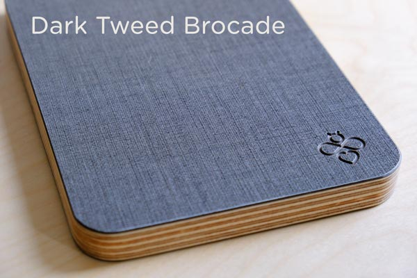 Close up of Cambee dark tweed cutting board