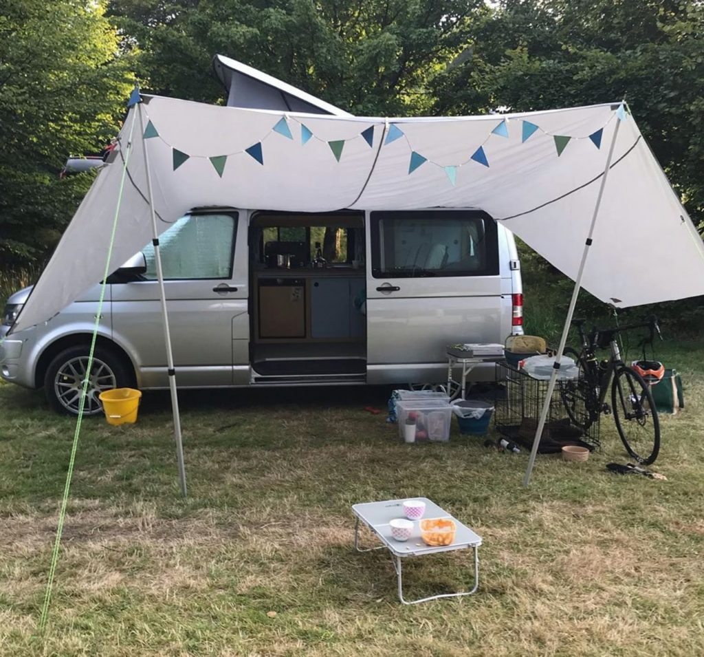 Riemo awning attached to Cambee conversion