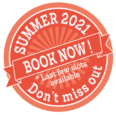 Book now for Summer 2021! Don't miss the last few slots available