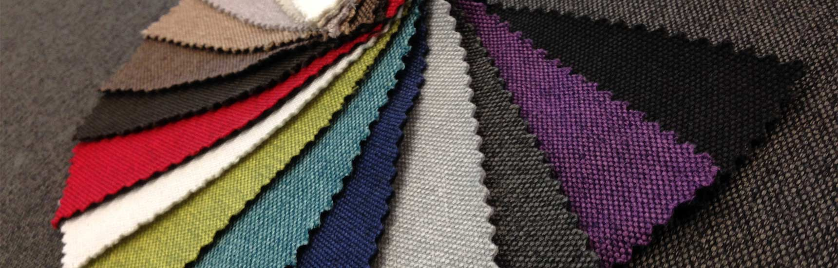 Fabric swatches for campervan roll bed
