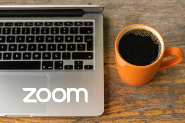 Zoom meeting with coffee ready